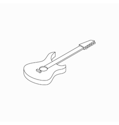 Bass guitar icon isometric 3d style vector image