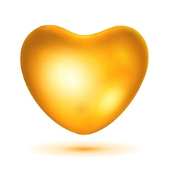 Big gold heart vector