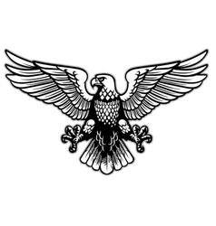 Black and white heraldry eagle vector