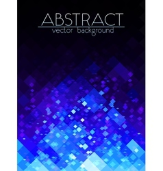 Bright blue grid abstract vertical background vector image