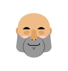 Brutal man sleeping emoji men face asleep emotion vector