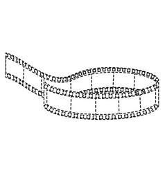 cinema tape record icon vector image