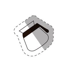 Coffee pot handle line vector