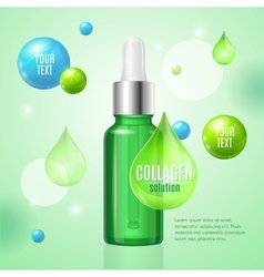 Collagen Package Card vector image vector image