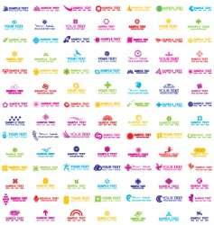 colorful logos vector image