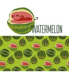cute simple watermelon pattern vector image