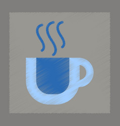 flat shading style icon cup coffee flavor vector image vector image