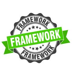 Framework stamp sign seal vector
