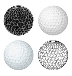 golf ballgolf club single icon in cartoon style vector image vector image