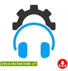 Headphones configuration gear eps icon vector