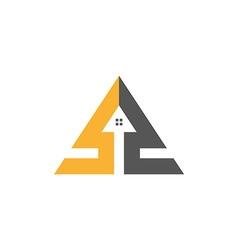 Home triangle logo vector