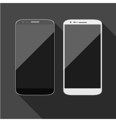 Isolated touch screen smartphone vector image vector image