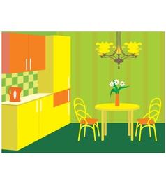 kitchen furniture vector image vector image