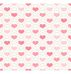 Light background with repeating hearts vector image vector image