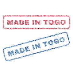 Made in togo textile stamps vector