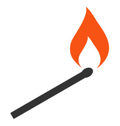 Match ignition flat icon vector