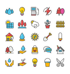 Nature colored icons set 2 vector