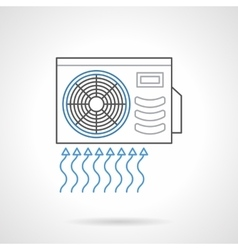 Outdoor air conditioner flat line icon vector