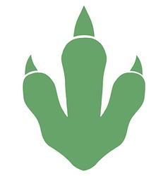 Raptor Dinosaur Paw Print Logo vector image vector image