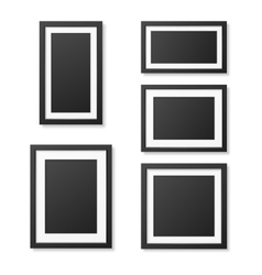 Realistic blank picture frame templates set vector image