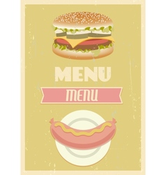 Retro menu set vector image