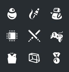 Set of robo battle icons vector