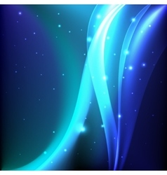 Shiny blue magic abstract background vector