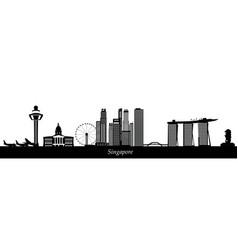 Singapore city skyline text vector