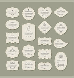 vintage frames set decorative elements vector image