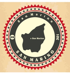 Vintage label-sticker cards of San Marino vector image