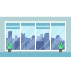 Cityscape and office room vector