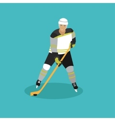 Ice hockey player man in vector