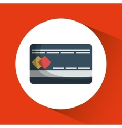 Credit card shopping online store market icon vector