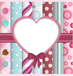 scrapbook layout with cut out heart vector image