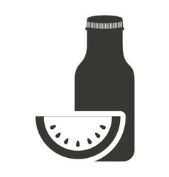 Juice fruit bottle silhouette icon vector