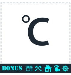 Celsius icon flat vector
