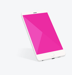 Smartphone with material design screen setting vector