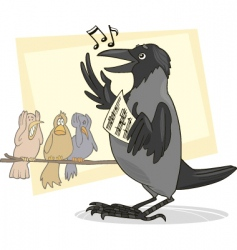 Singing crow vector