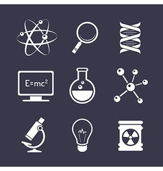Chemistry and science icons vector