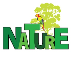 Nature with parrot color vector