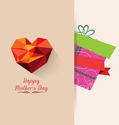 gift mother day background retro vector image