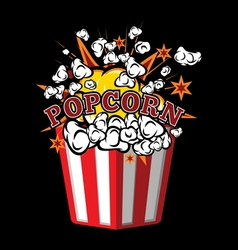 Pop corn2 vector image