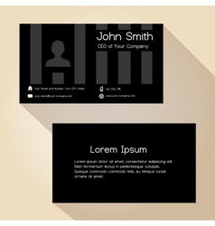 Simple black striped business card design eps10 vector