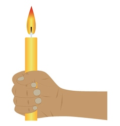 Hand with a candle vector