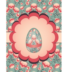 Easter egg on floral pattern vector