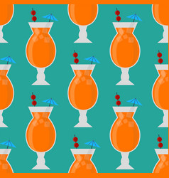 alcohol drinks beverages cocktail seamless pattern vector image