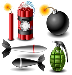 Bomb set vector image