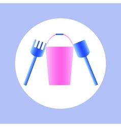 bucket toy in circle vector image vector image