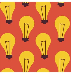 Flat Seamless Pattern Business Idea Lamp vector image