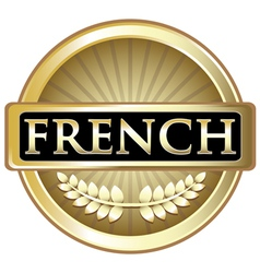 French gold label vector